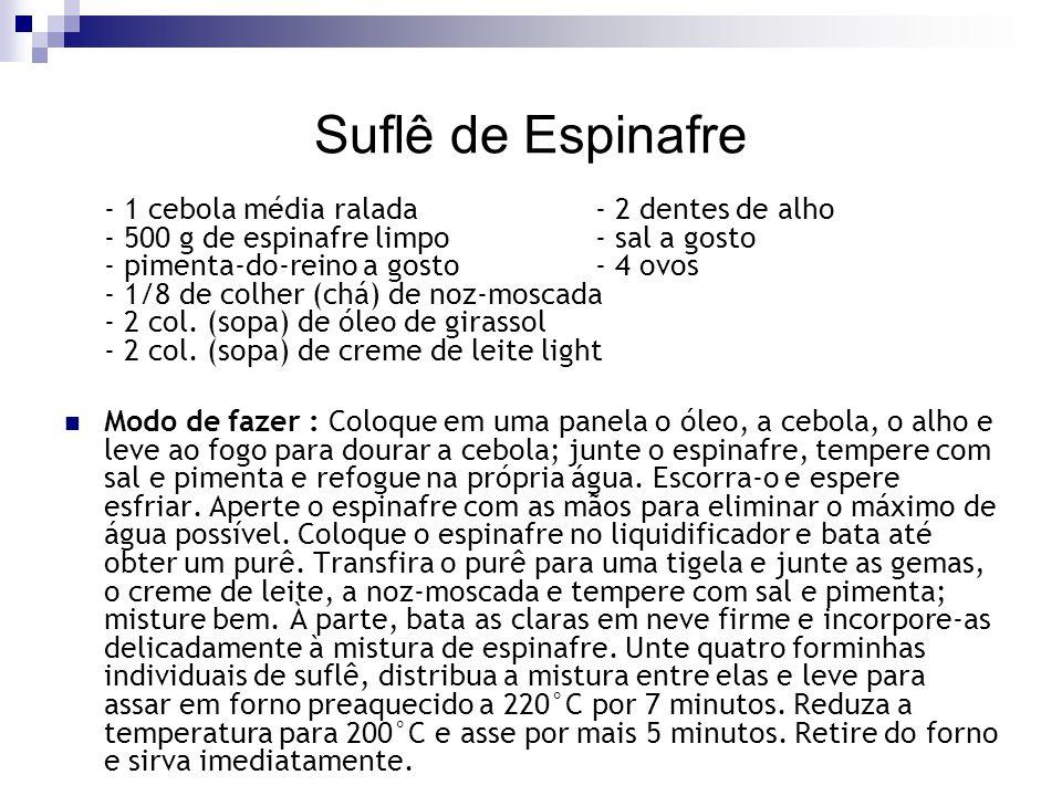 Suflê de Espinafre