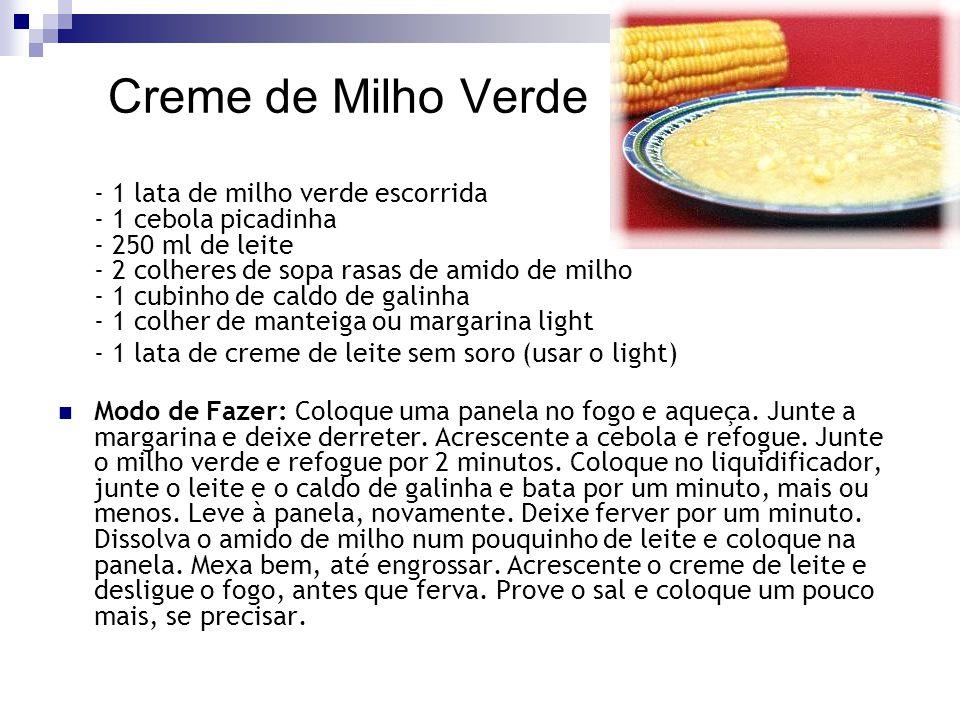 Creme de Milho Verde