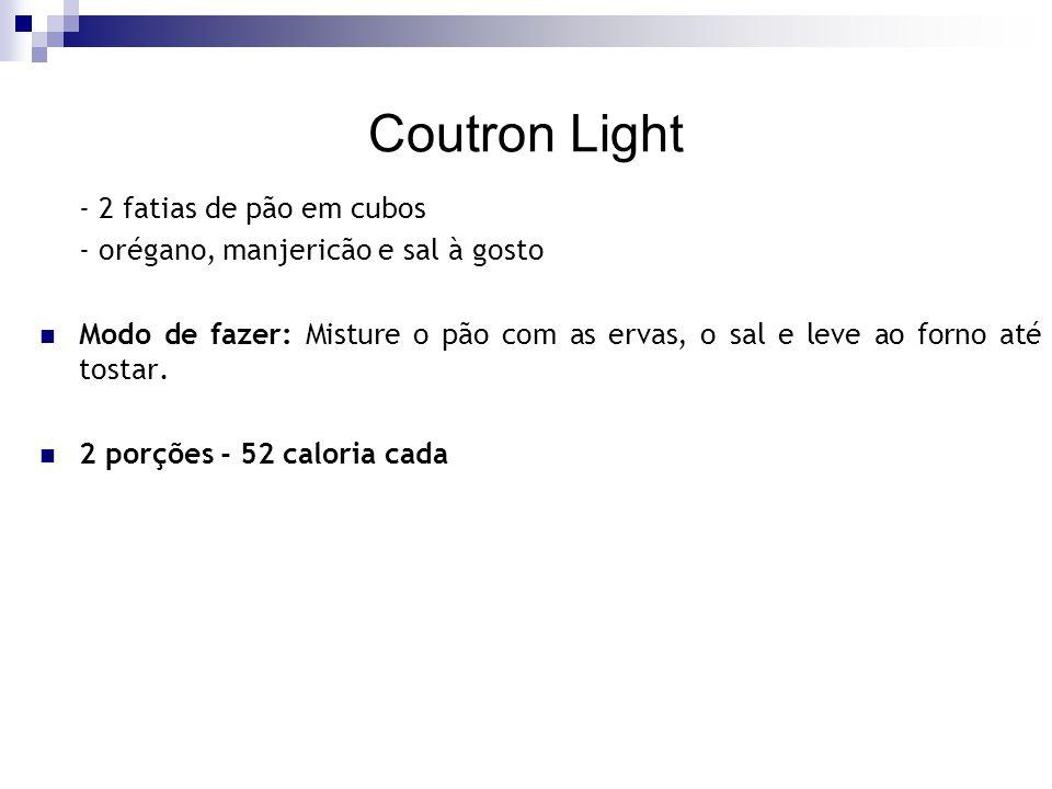 Coutron Light - 2 fatias de pão em cubos
