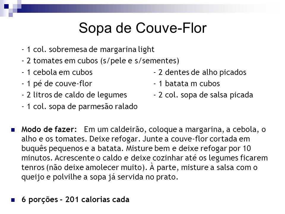Sopa de Couve-Flor - 1 col. sobremesa de margarina light