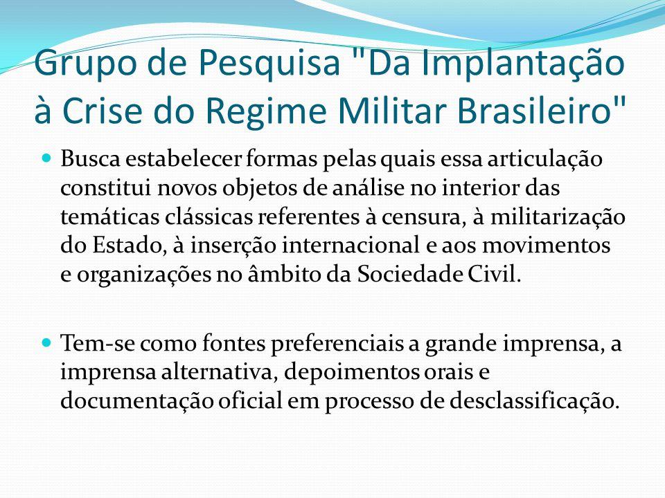 Grupo de Pesquisa Da Implantação à Crise do Regime Militar Brasileiro