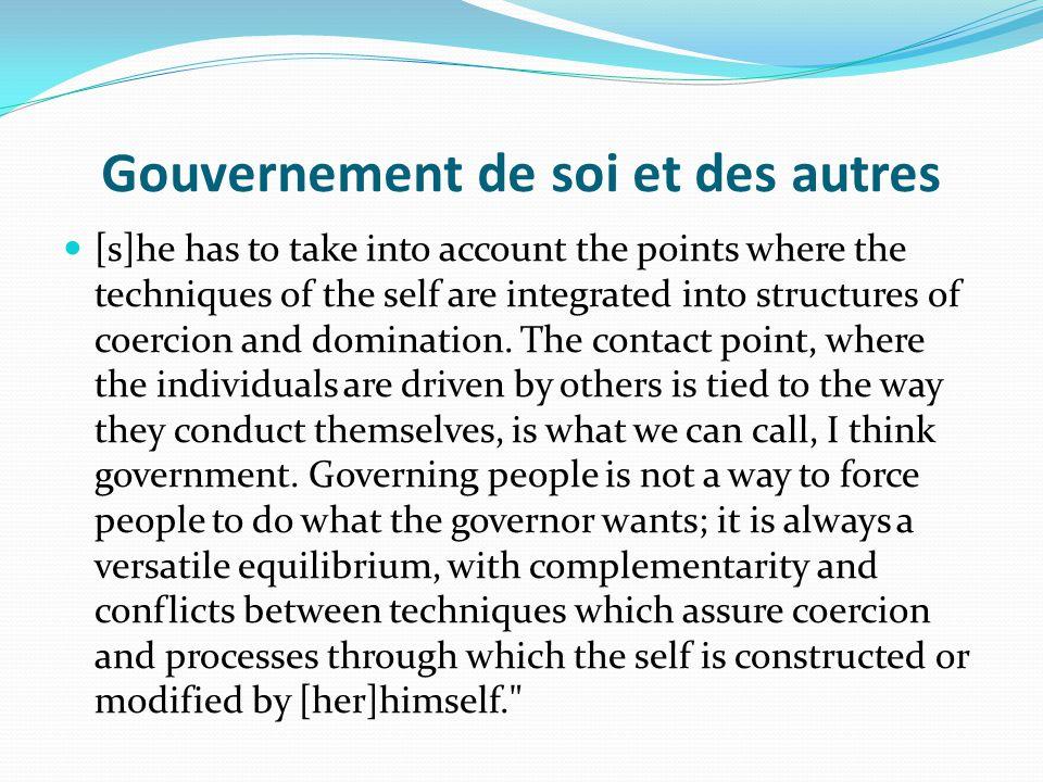 Gouvernement de soi et des autres
