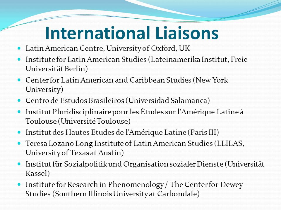 International Liaisons