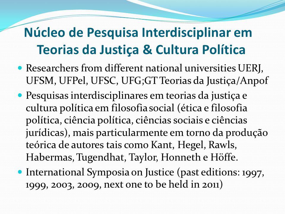 Núcleo de Pesquisa Interdisciplinar em Teorias da Justiça & Cultura Política