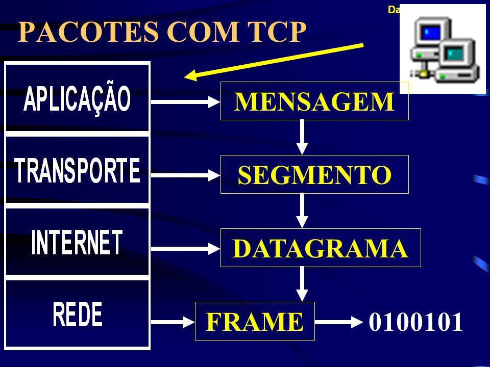 PACOTES COM TCP MENSAGEM SEGMENTO DATAGRAMA FRAME 0100101