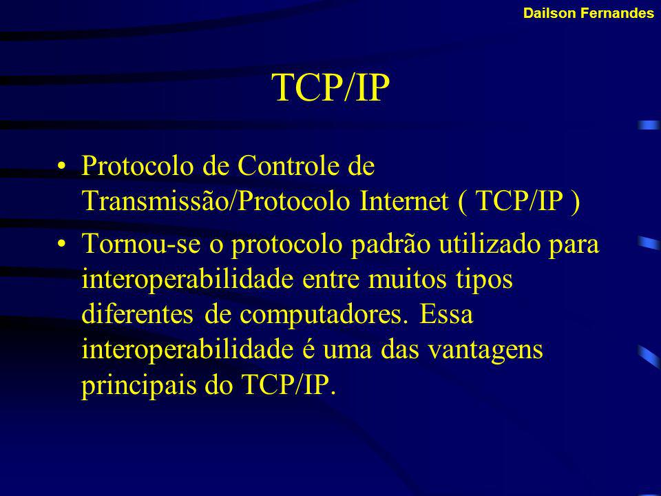 TCP/IP Protocolo de Controle de Transmissão/Protocolo Internet ( TCP/IP )