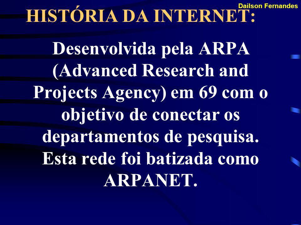 HISTÓRIA DA INTERNET: