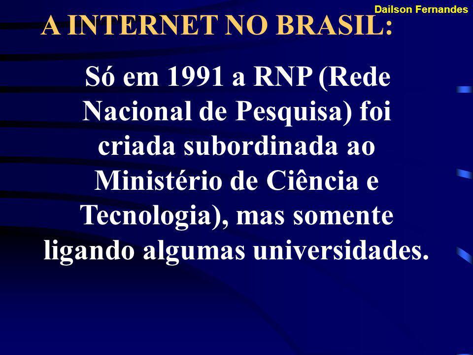 A INTERNET NO BRASIL: