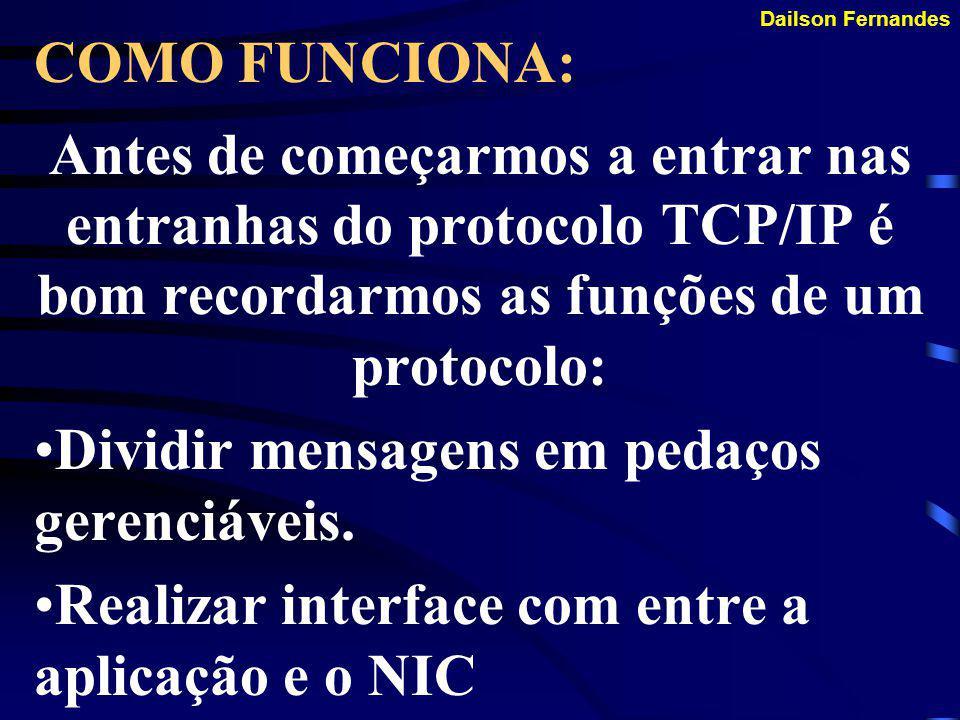 COMO FUNCIONA: Antes de começarmos a entrar nas entranhas do protocolo TCP/IP é bom recordarmos as funções de um protocolo: