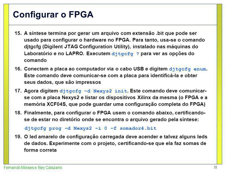Configurar o FPGA