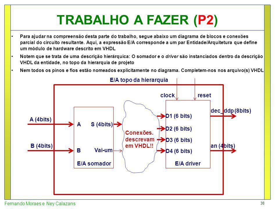 TRABALHO A FAZER (P2) E/A topo da hierarquia clock reset