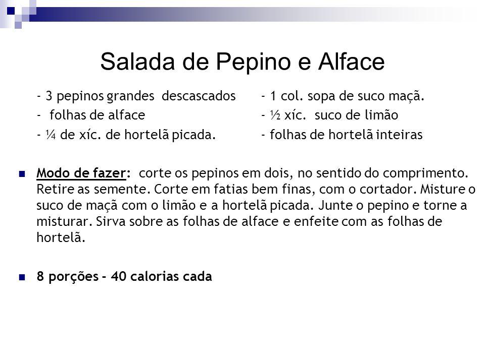 Salada de Pepino e Alface