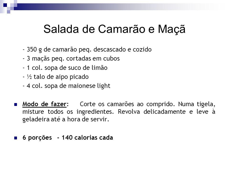 Salada de Camarão e Maçã