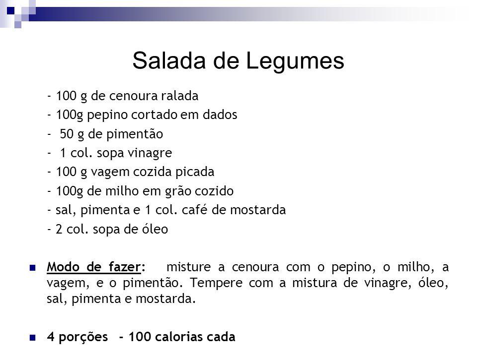 Salada de Legumes - 100 g de cenoura ralada