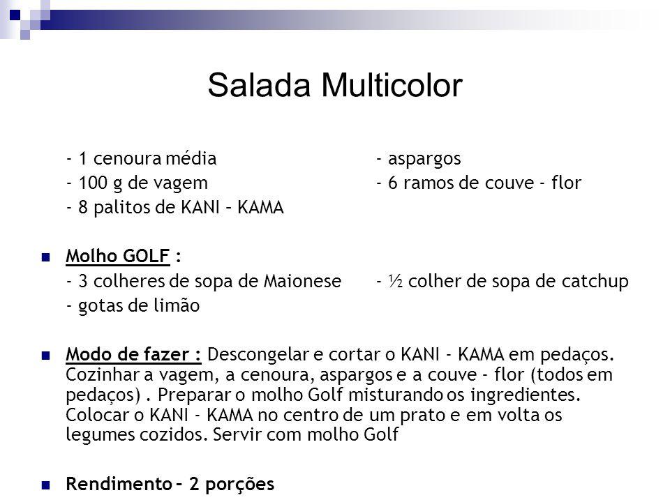 Salada Multicolor - 1 cenoura média - aspargos