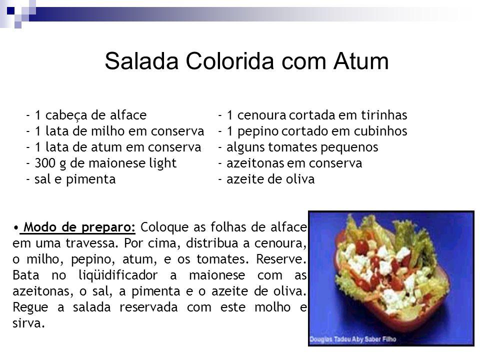 Salada Colorida com Atum