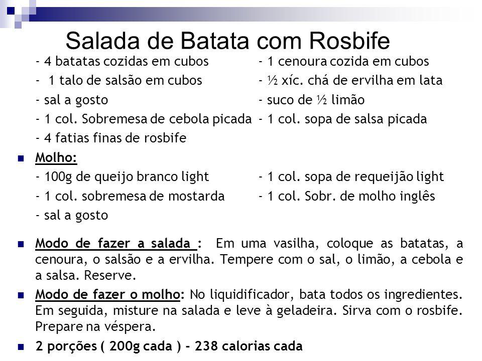 Salada de Batata com Rosbife
