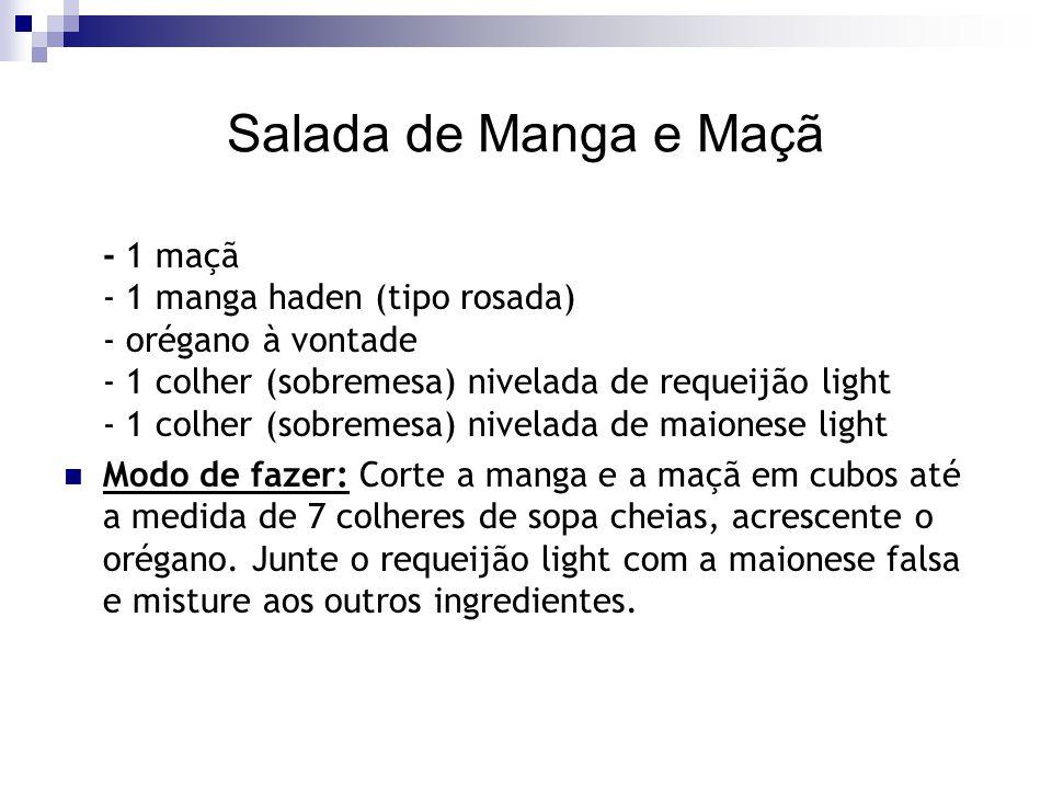 Salada de Manga e Maçã