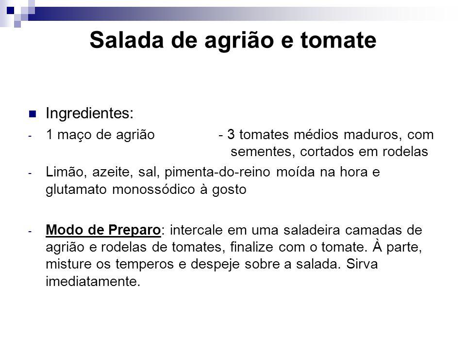 Salada de agrião e tomate