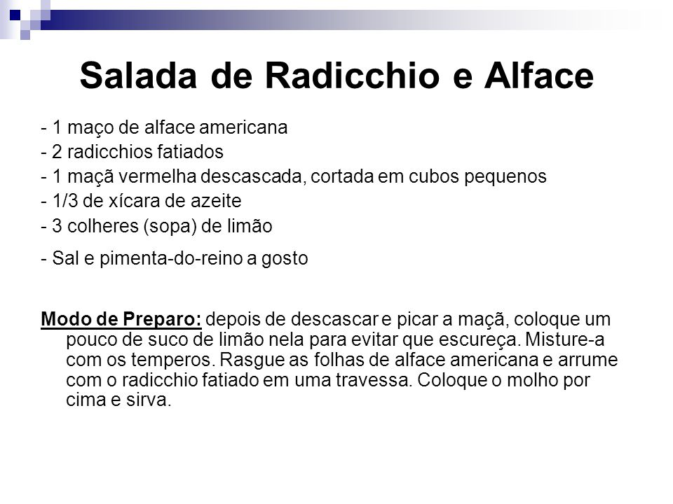 Salada de Radicchio e Alface