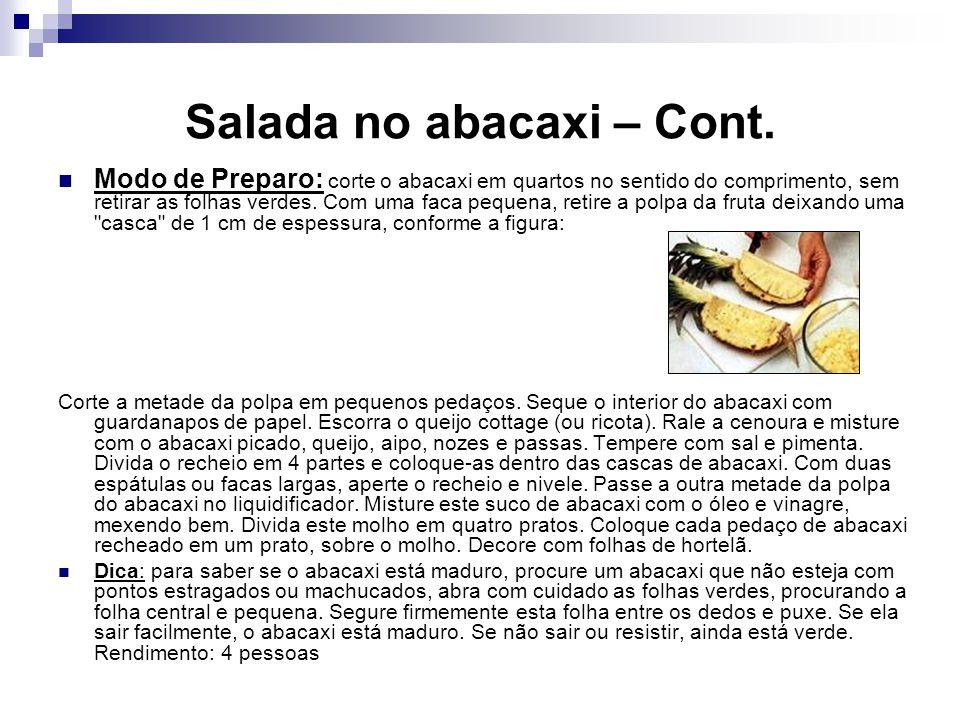 Salada no abacaxi – Cont.