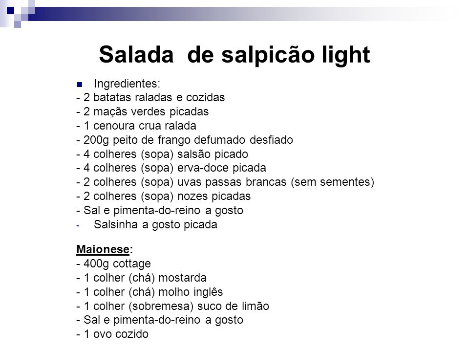 Salada de salpicão light