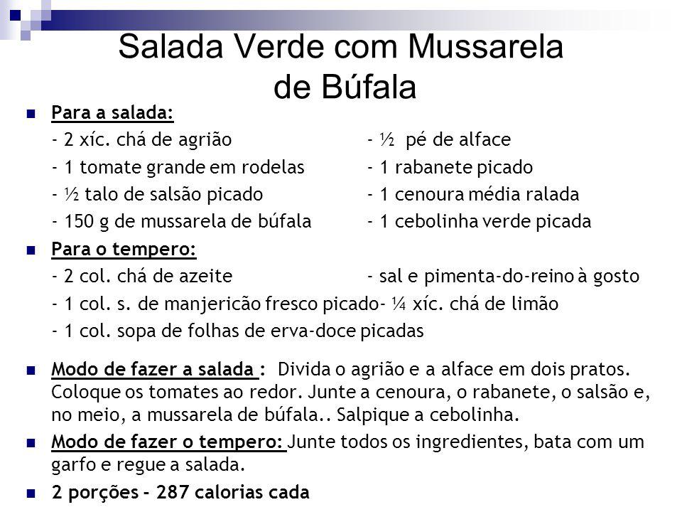 Salada Verde com Mussarela de Búfala