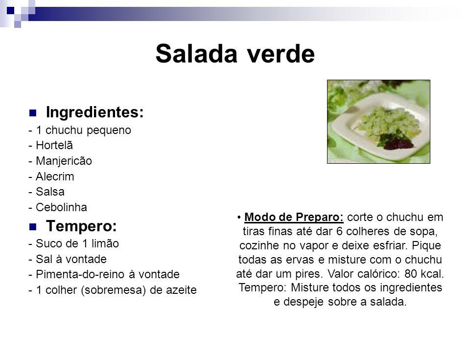 Tempero: Misture todos os ingredientes e despeje sobre a salada.