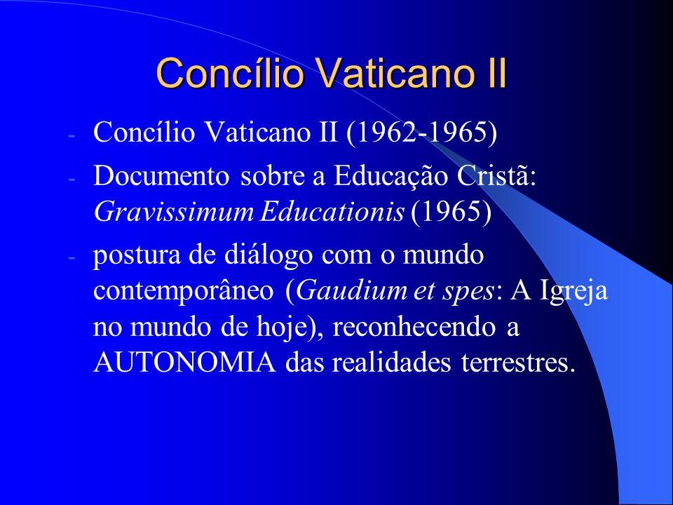 Concílio Vaticano II Concílio Vaticano II (1962-1965)