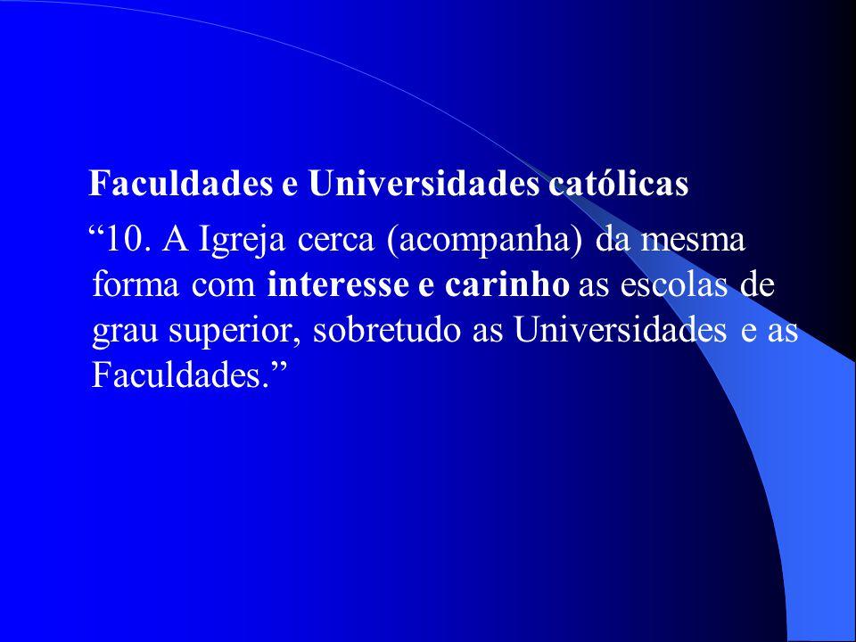 Faculdades e Universidades católicas