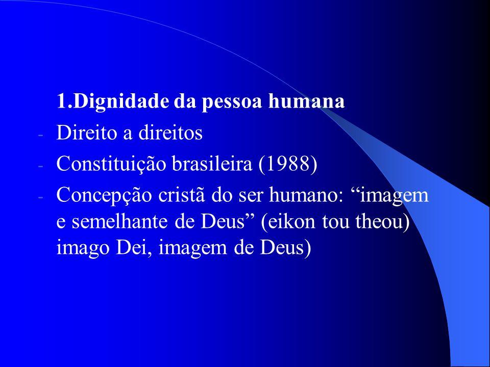 1.Dignidade da pessoa humana