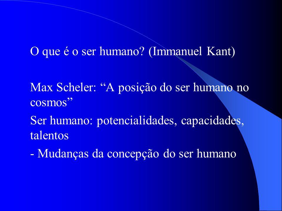 Max Scheler: A posição do ser humano no cosmos