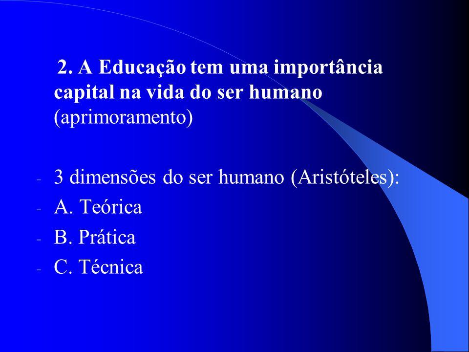 2. A Educação tem uma importância capital na vida do ser humano (aprimoramento)