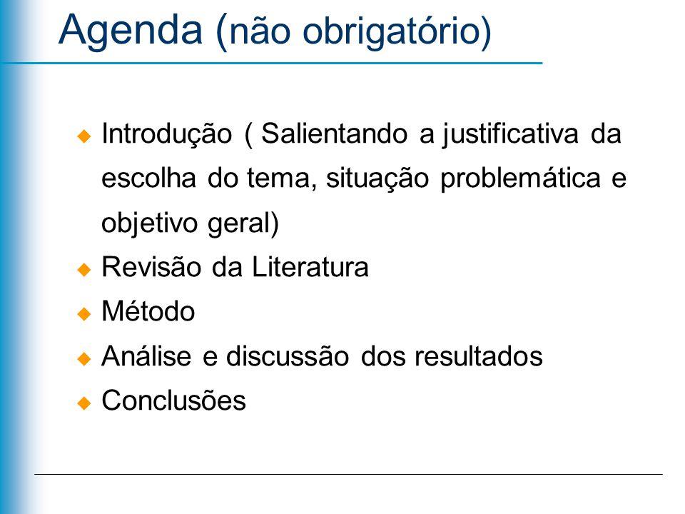 Agenda (não obrigatório)