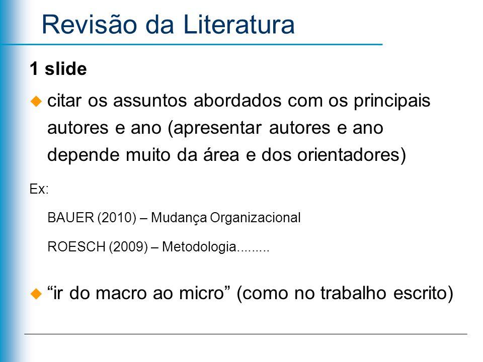 Revisão da Literatura 1 slide