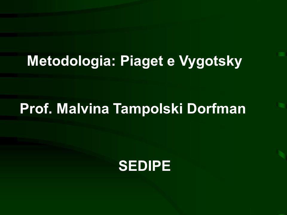 Metodologia: Piaget e Vygotsky