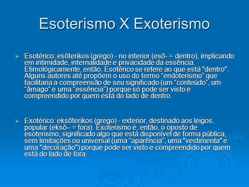 Esoterismo X Exoterismo