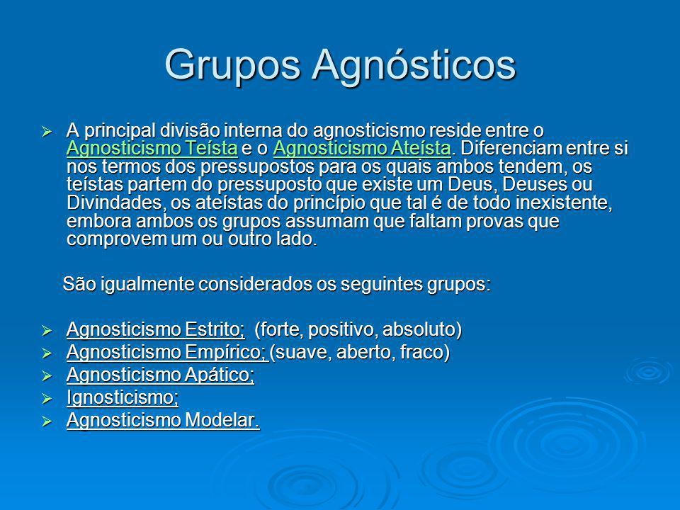 Grupos Agnósticos