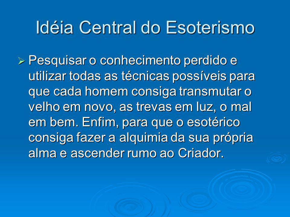 Idéia Central do Esoterismo