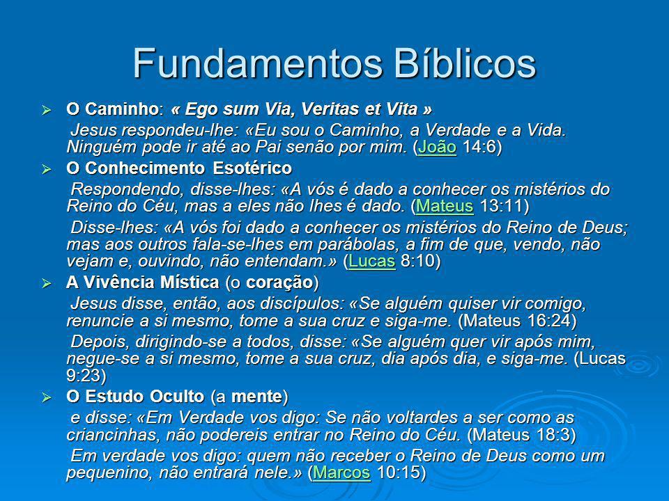 Fundamentos Bíblicos O Caminho: « Ego sum Via, Veritas et Vita »