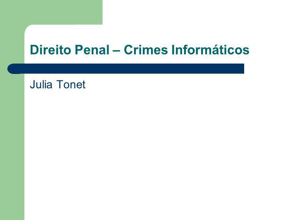 Direito Penal – Crimes Informáticos