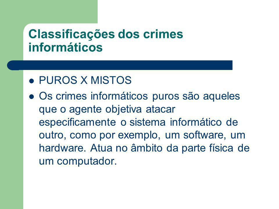 Classificações dos crimes informáticos
