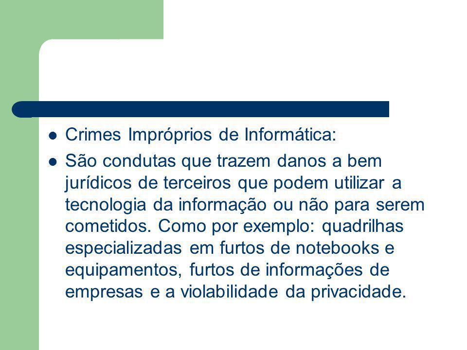 Crimes Impróprios de Informática: