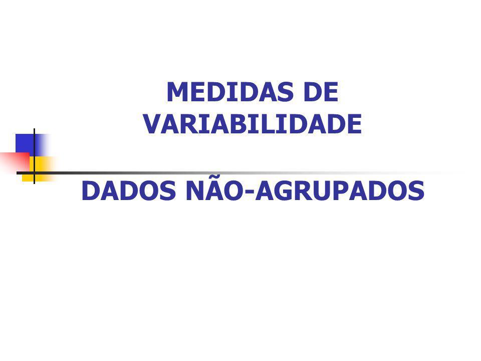 MEDIDAS DE VARIABILIDADE DADOS NÃO-AGRUPADOS