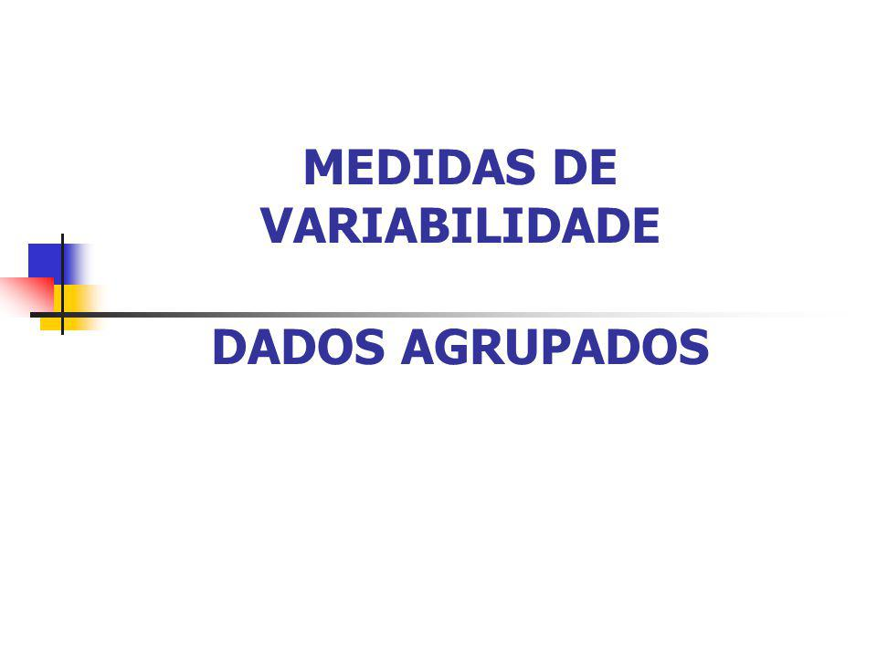 MEDIDAS DE VARIABILIDADE DADOS AGRUPADOS