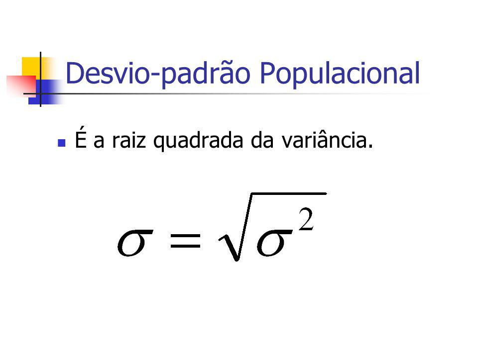 Desvio-padrão Populacional