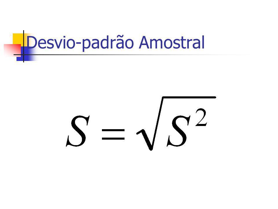 Desvio-padrão Amostral