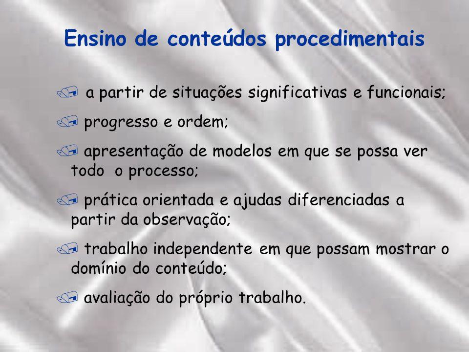 Ensino de conteúdos procedimentais