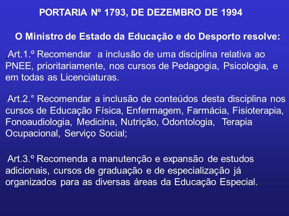 PORTARIA Nº 1793, DE DEZEMBRO DE 1994