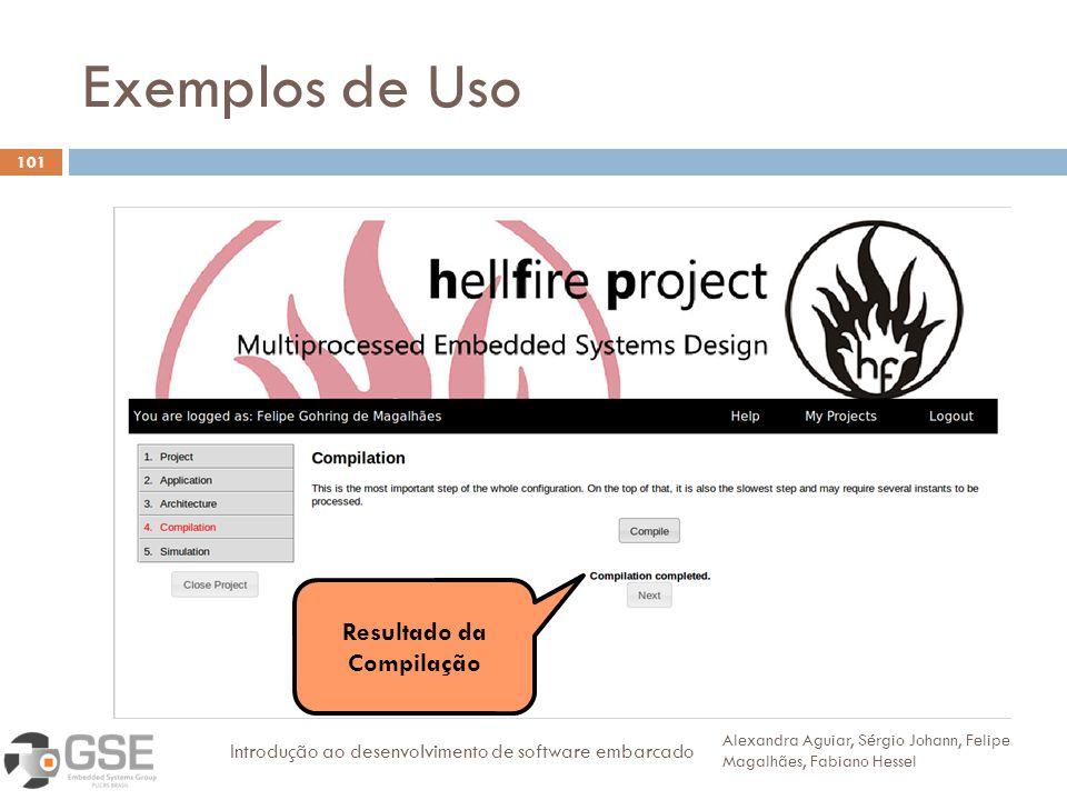 Exemplos de Uso 3 Resultado da Compilação